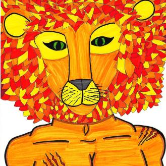 "Lion. (c) 2014. Bobby James. ""Kingdom Masks"" Series."