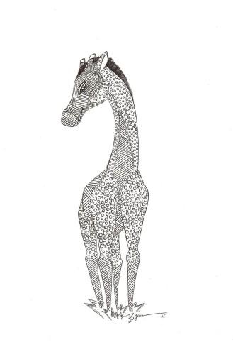 A Dark Giraffe. (c) 2015. Bobby James.
