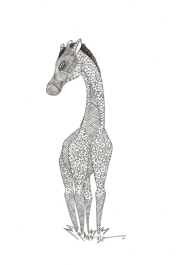 A Dark Giraffe. (c) 2015. Bobby James.