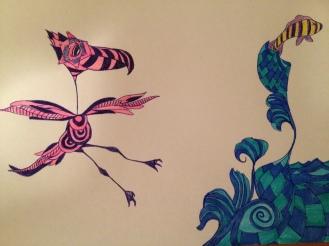 Bird of Prey. 2012. Bobby-james. Pen/Marker