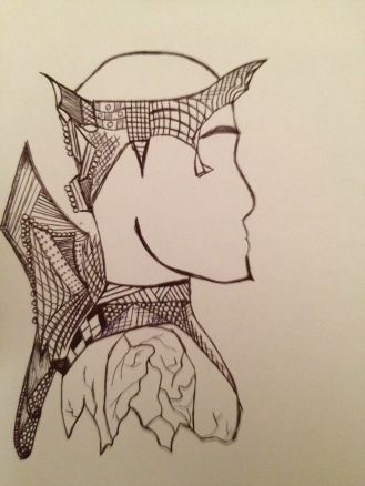 Broken Warrior. 2012. Bobby-james. Pen