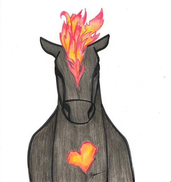"Sometimes the darkest places ignite a fire. Burn bright! ""Burning Desire."" Bobby James. (c) 2015."