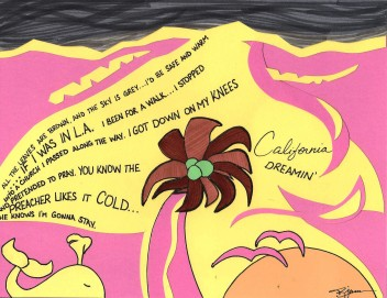 "California Dreamin' by Bobby James, (c) 2015. Inspired by ""California Dreamin'"" by Sia for San Andreas (2015)."