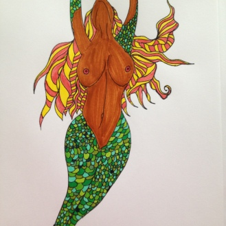 Mermaid. 2013. Bobby-james. Marker