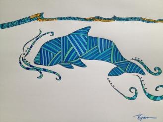 Dolphin. 2013. Bobby-james. Marker.