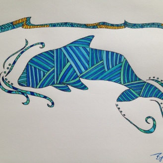 Dolphin. 2013. Bobby-james. Marker.