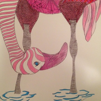 The Odd Flamingo. 2012. Bobby-james. Pen/Marker