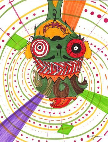 Voodoo Monkey. (c) 2015. Bobby James.