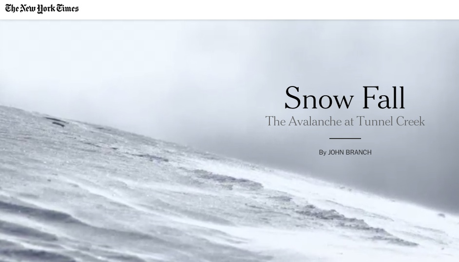 Snowfall NYTimes Image