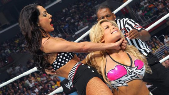 Brie Bella (left) vs. Natalya (right)