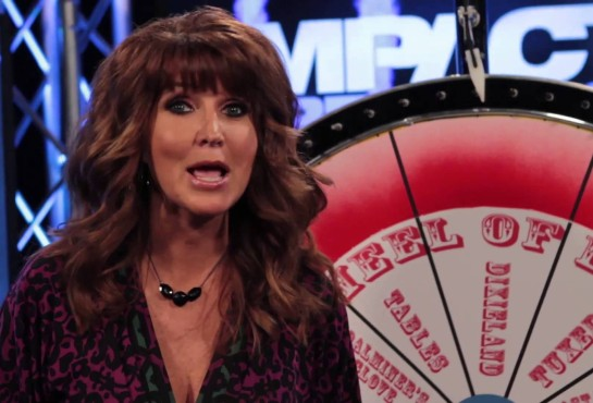"""Dixie Carter and the """"Wheel of Dixie."""""""
