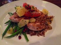 Chicken with Rice, Green Beans, Citrus Fruits, and Pomegranate