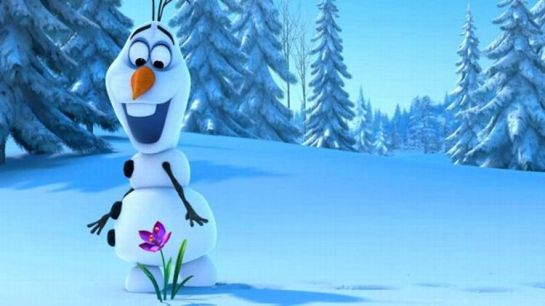 Olaf (voice of Josh Gad) from Disney's FROZEN - look how happy he is with all the nods!