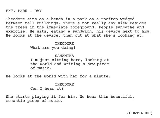 Her Script Page