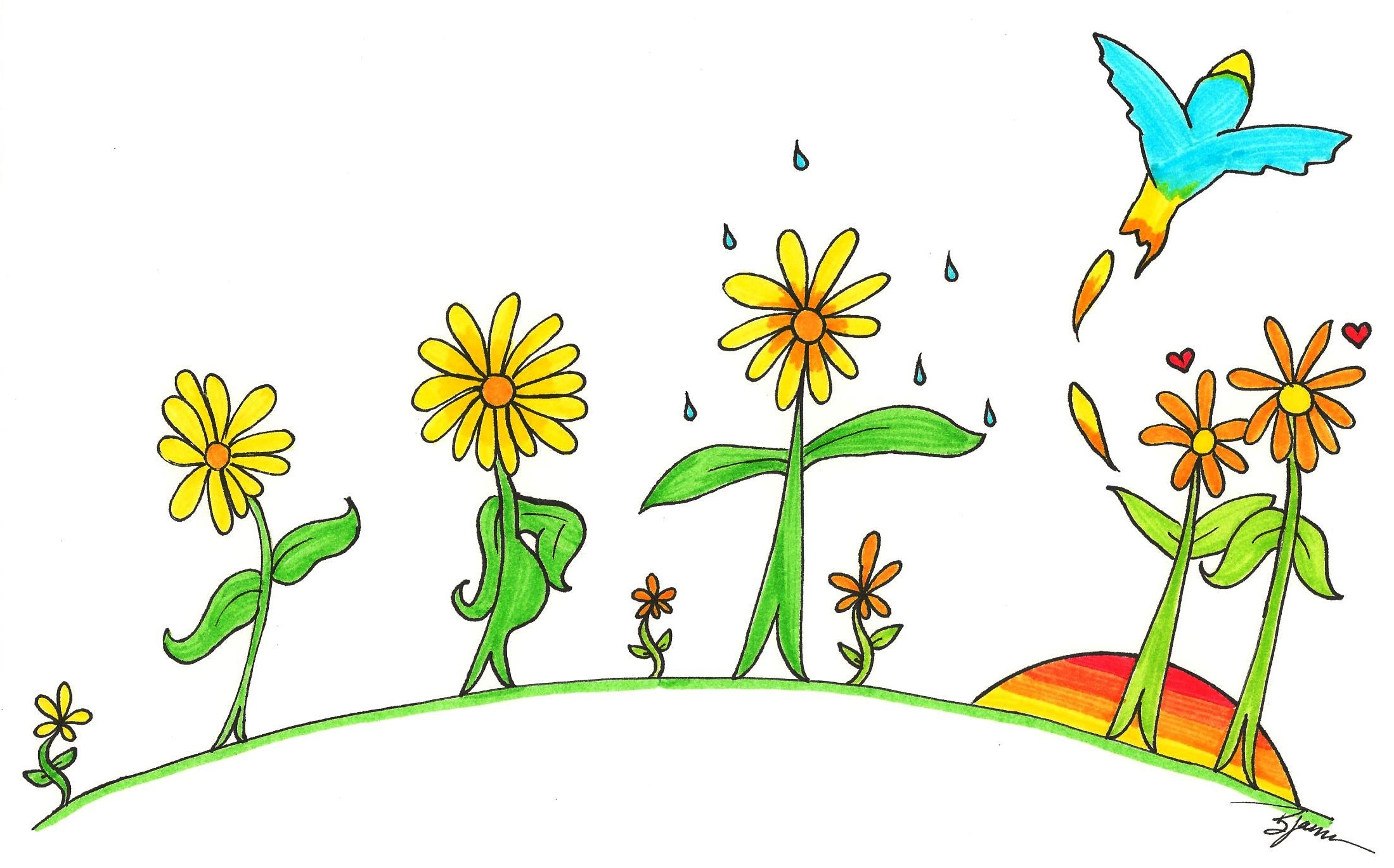 The Life of Flowers. (c) 2014. Marker. Bobby James. For My Mom.
