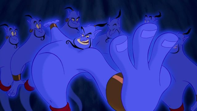 from Aladdin (1992). Voice:  Robin Williams