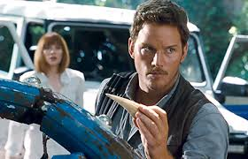 Chris Pratt in Jurassic World (2015).
