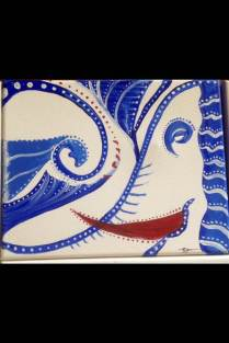 Ele-Wave. (c) 2013 Bobby James. Acrylic on Canvas, 5.5x8.5. Suggested Retail: $25 (OBO).