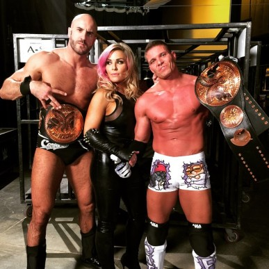 Kidd & Cesaro with Natalya (Tag Team of the Year, 2015)