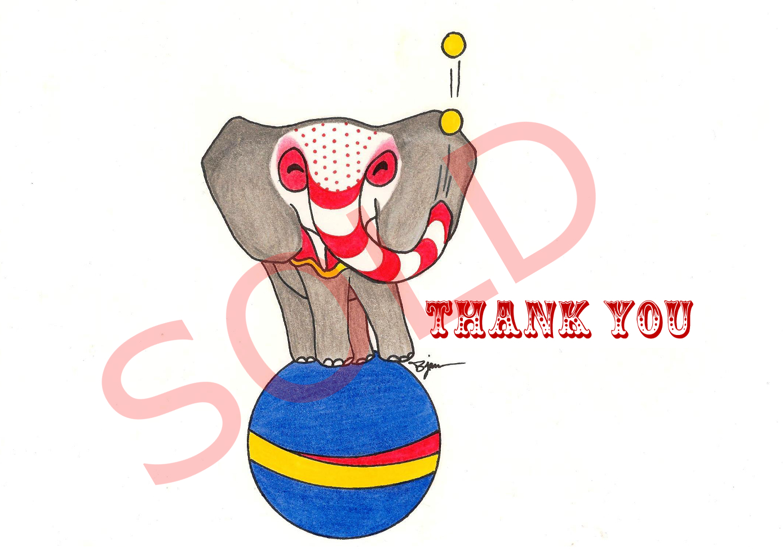 Circus Elephant Design